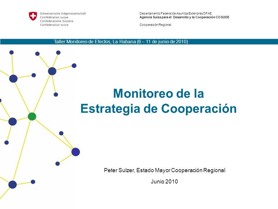 Monitoreo de la Estrategia de Cooperación