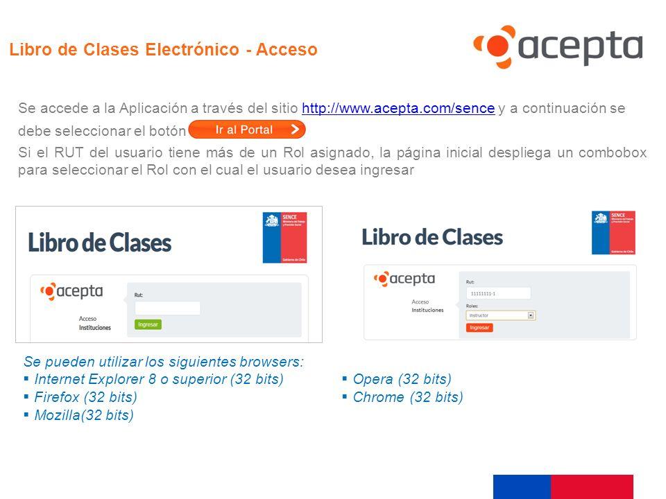 Acceso Libro de Clases Electrónico - Acceso