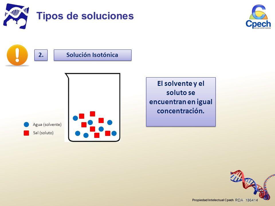 El solvente y el soluto se encuentran en igual concentración.