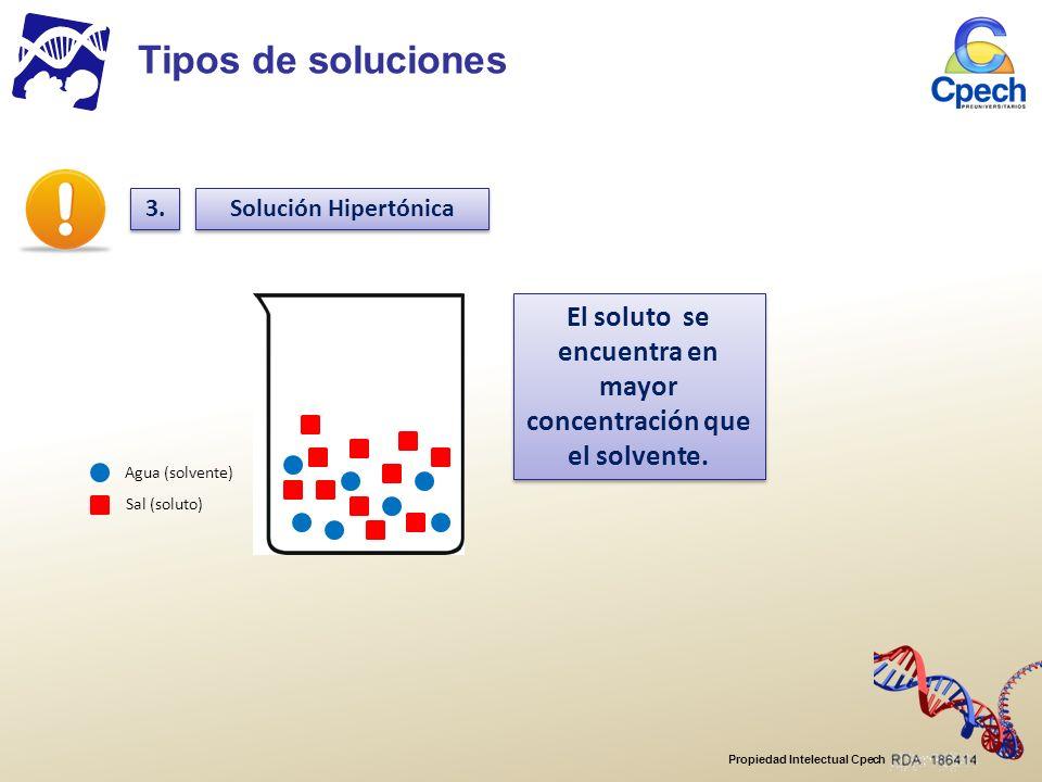 El soluto se encuentra en mayor concentración que el solvente.