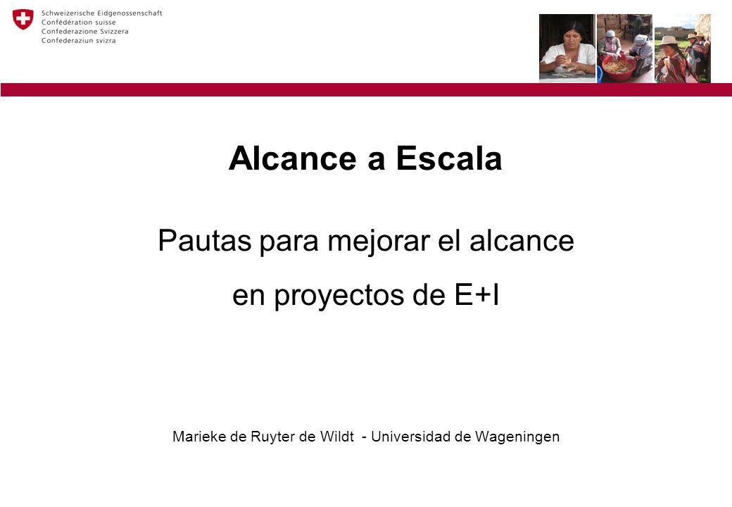 Alcance a Escala Pautas para mejorar el alcance en proyectos de E+I