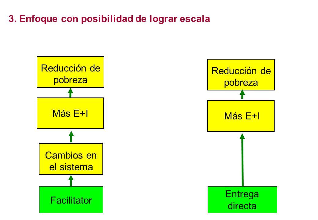 3. Enfoque con posibilidad de lograr escala