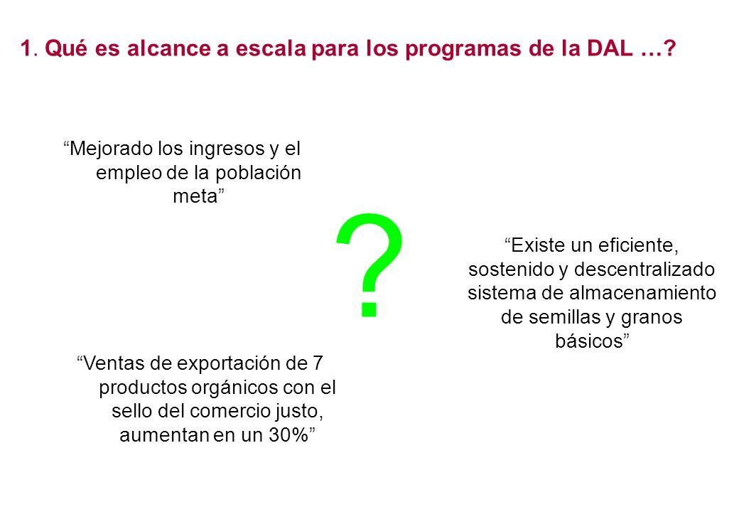 1. Qué es alcance a escala para los programas de la DAL …