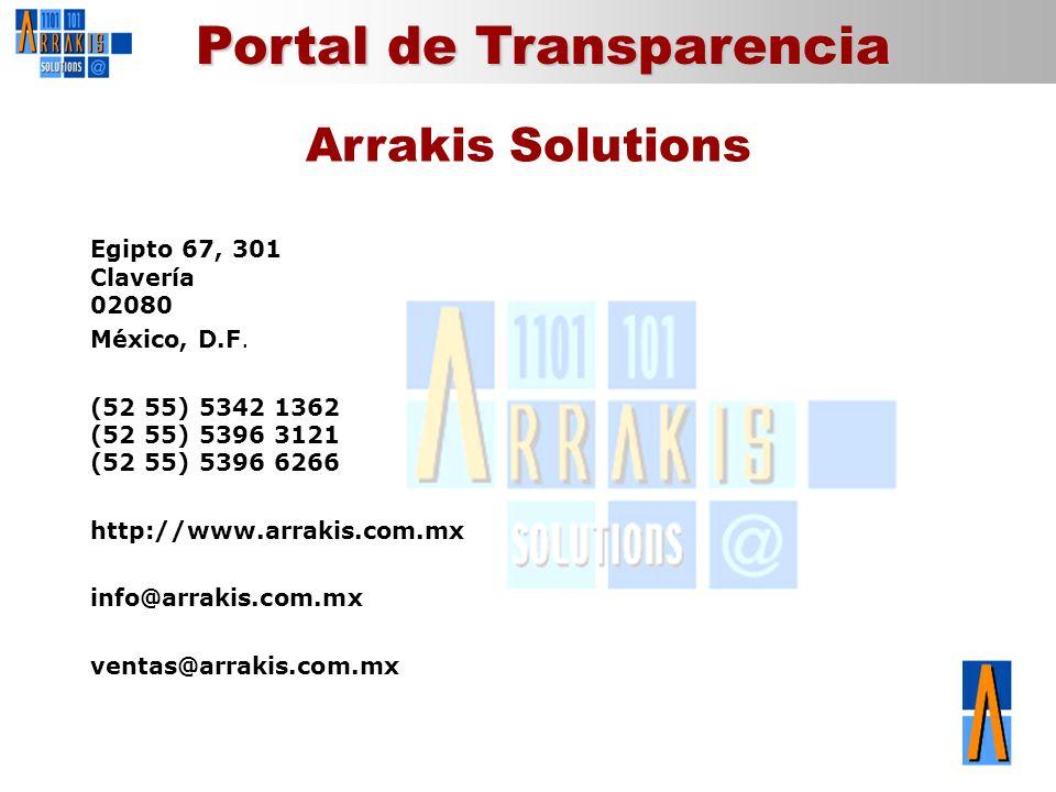 Arrakis Solutions Egipto 67, 301 Clavería 02080 México, D.F.