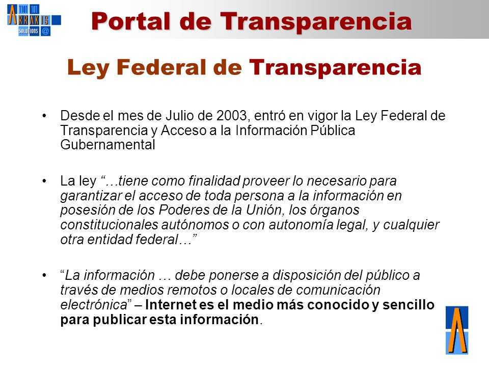 Ley Federal de Transparencia