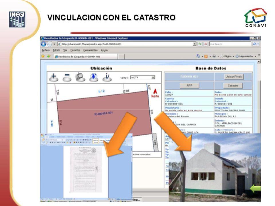 VINCULACION CON EL CATASTRO