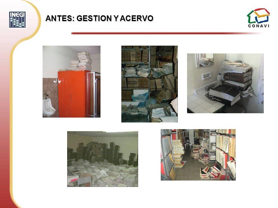 ANTES: GESTION Y ACERVO