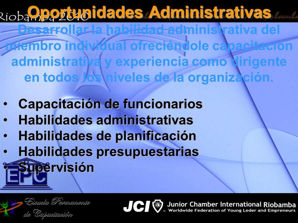 Oportunidades Administrativas