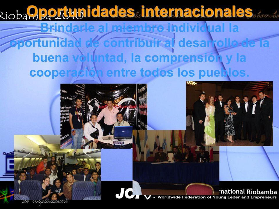 Oportunidades internacionales