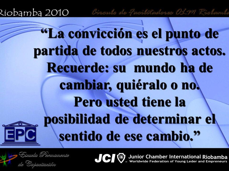 La convicción es el punto de partida de todos nuestros actos.