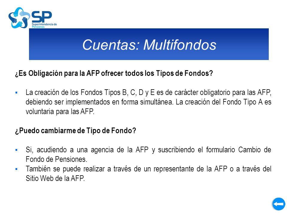 Cuentas: Multifondos ¿Es Obligación para la AFP ofrecer todos los Tipos de Fondos