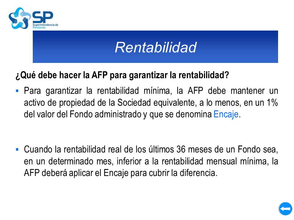 Rentabilidad ¿Qué debe hacer la AFP para garantizar la rentabilidad