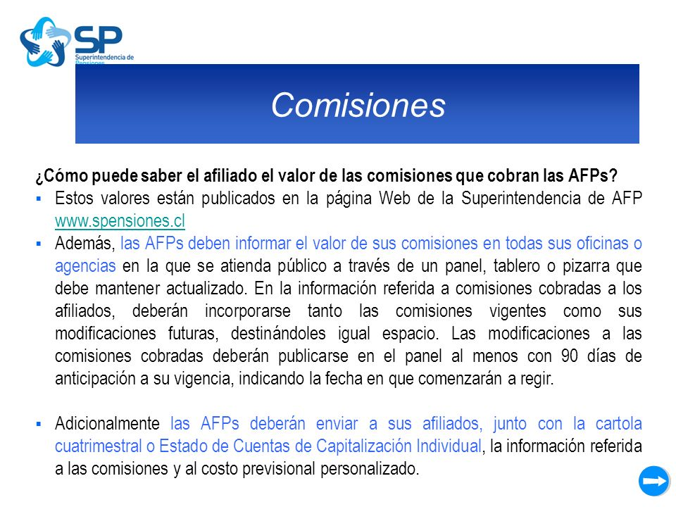 Comisiones ¿Cómo puede saber el afiliado el valor de las comisiones que cobran las AFPs