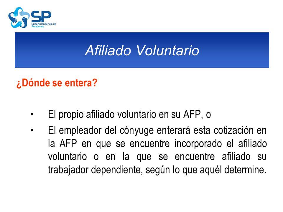 Afiliado Voluntario ¿Dónde se entera