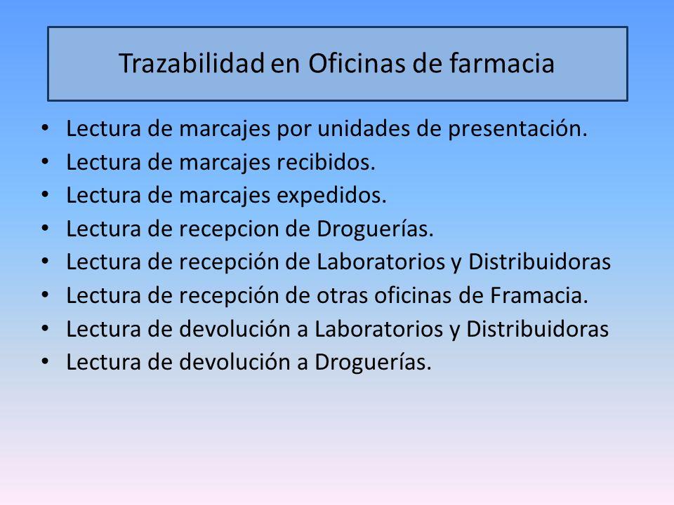 Trazabilidad en Oficinas de farmacia
