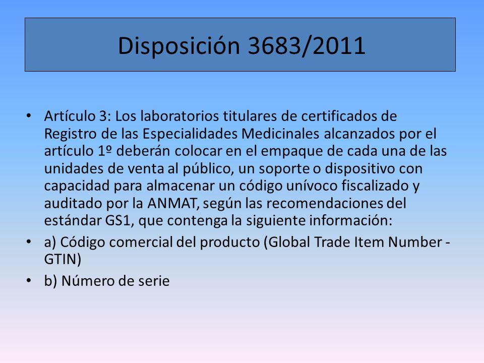 Disposición 3683/2011