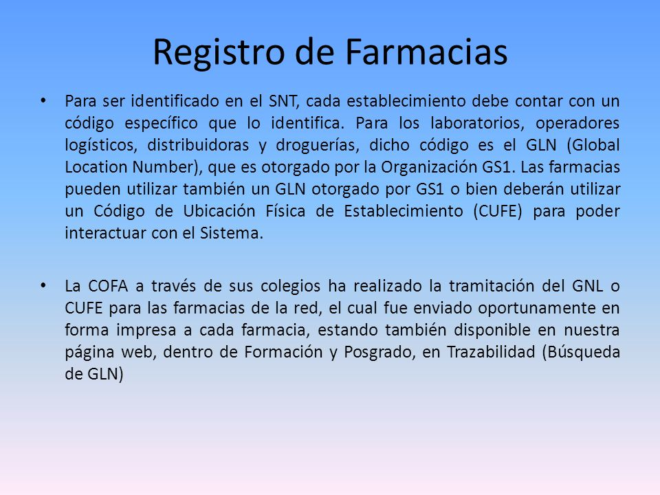 Registro de Farmacias