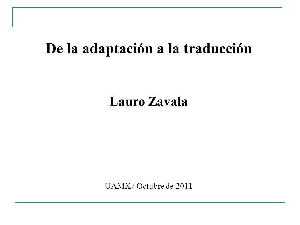 De la adaptación a la traducción