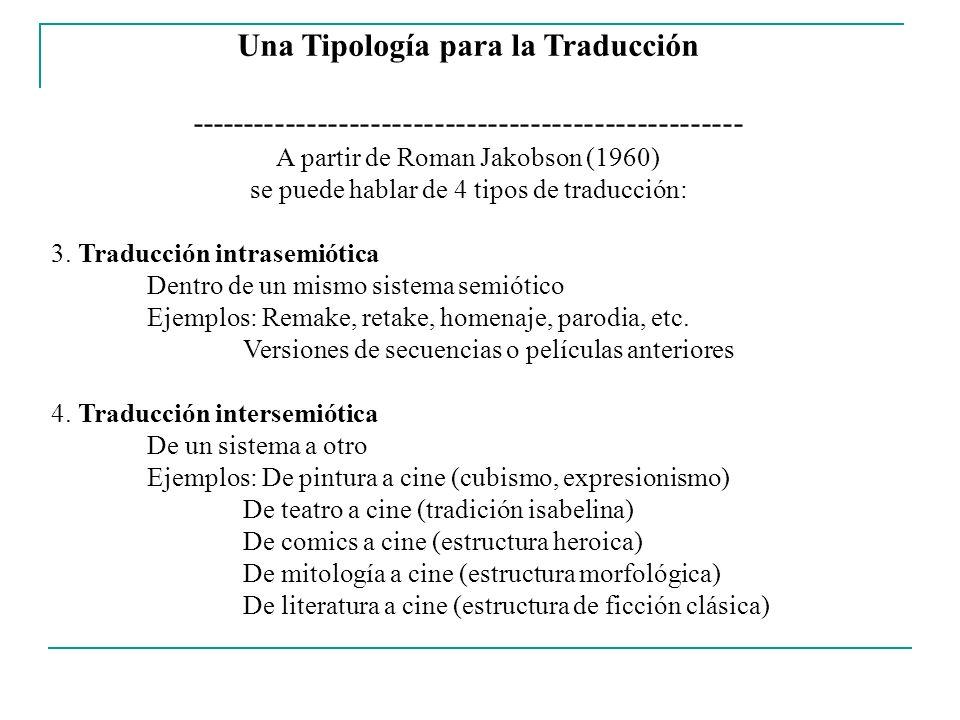 Una Tipología para la Traducción