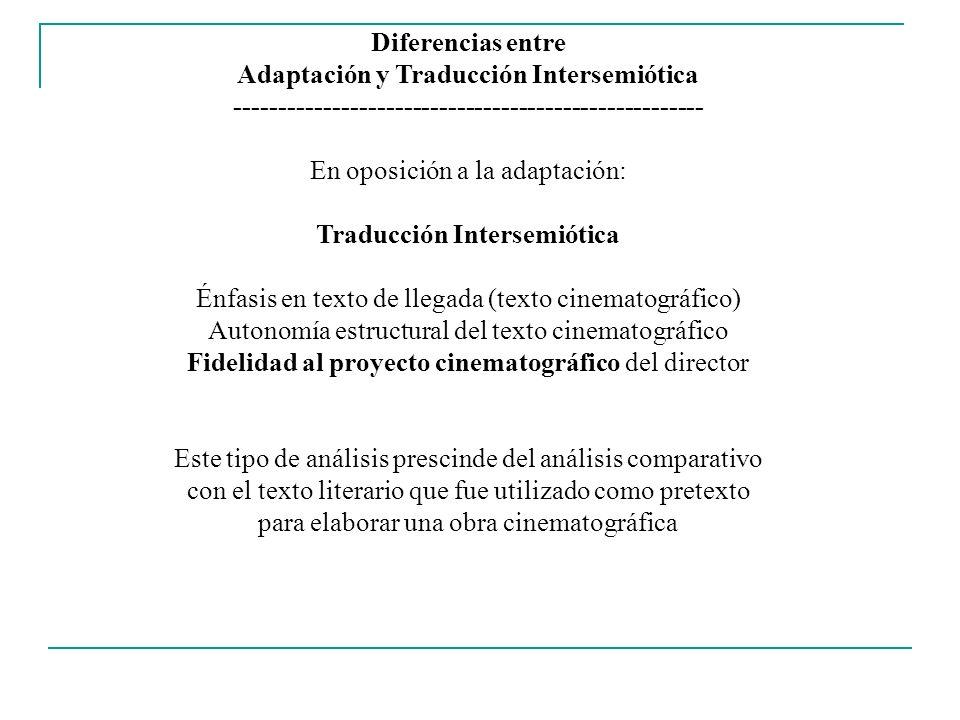 Adaptación y Traducción Intersemiótica