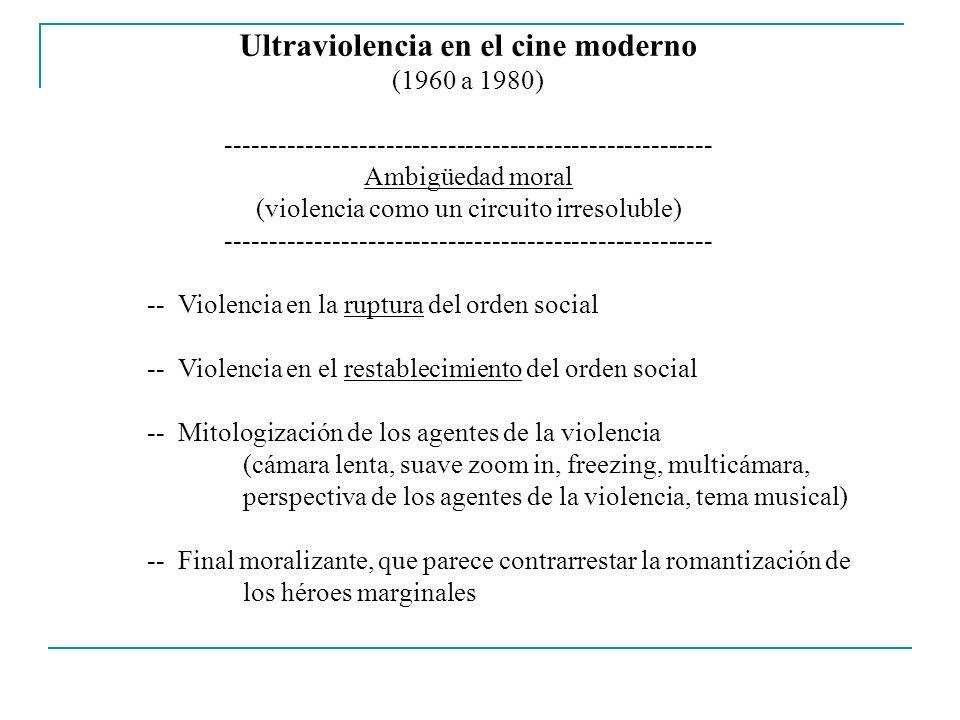 Ultraviolencia en el cine moderno