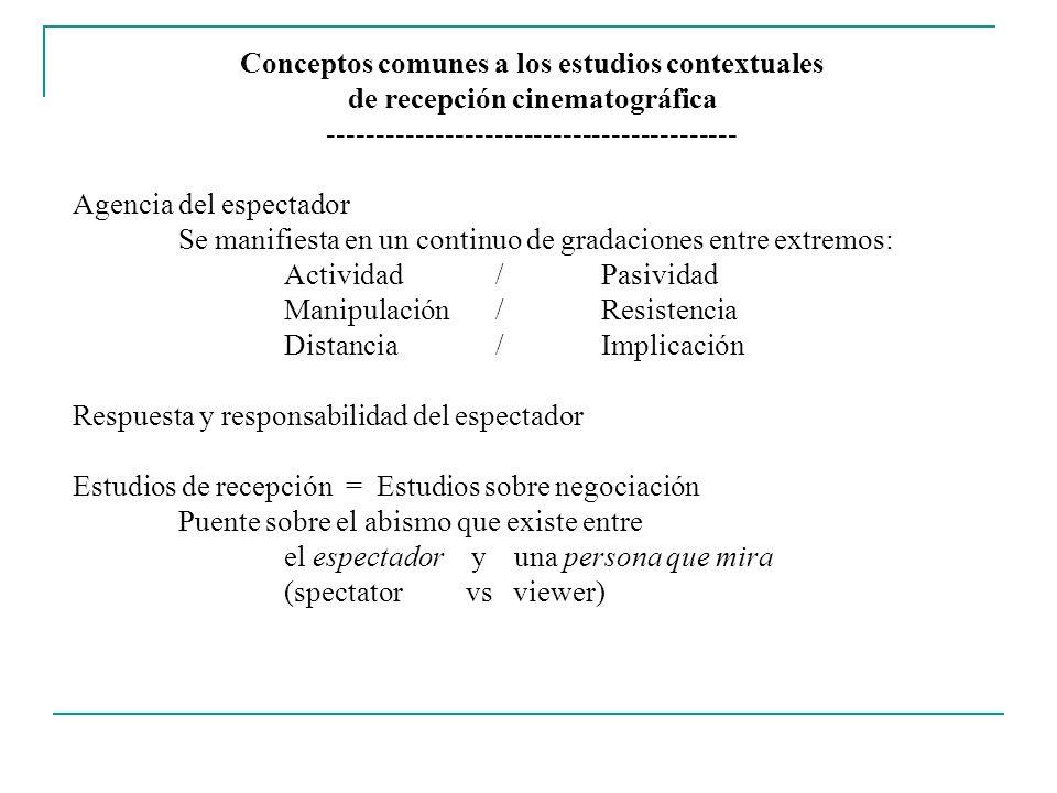 Conceptos comunes a los estudios contextuales