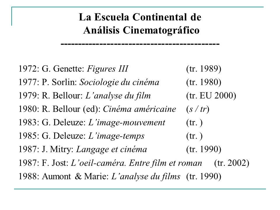 La Escuela Continental de Análisis Cinematográfico --------------------------------------------