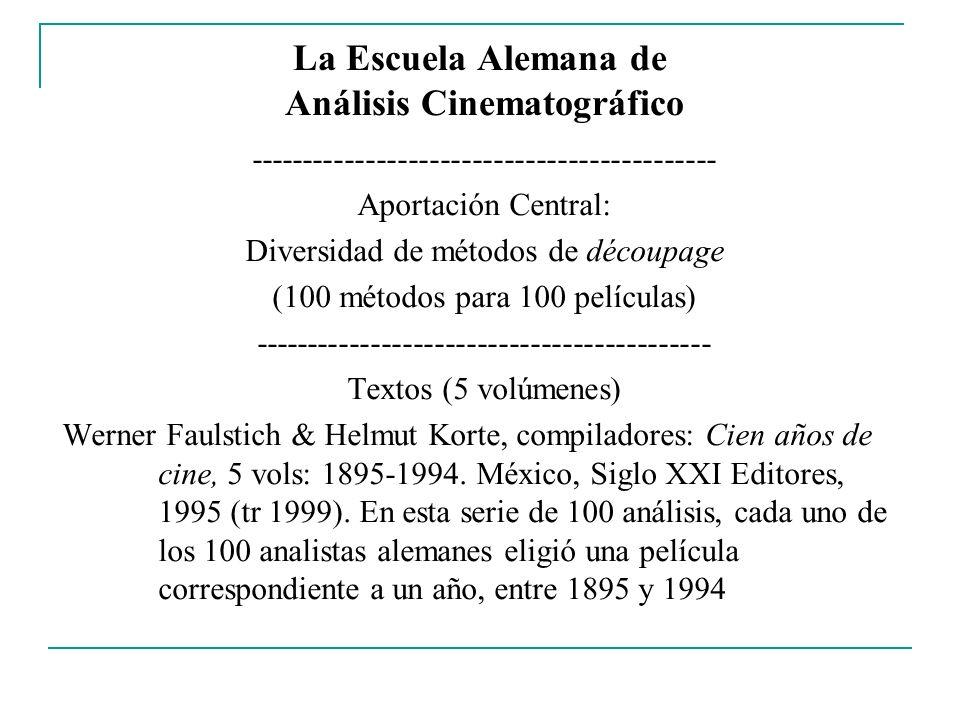 La Escuela Alemana de Análisis Cinematográfico