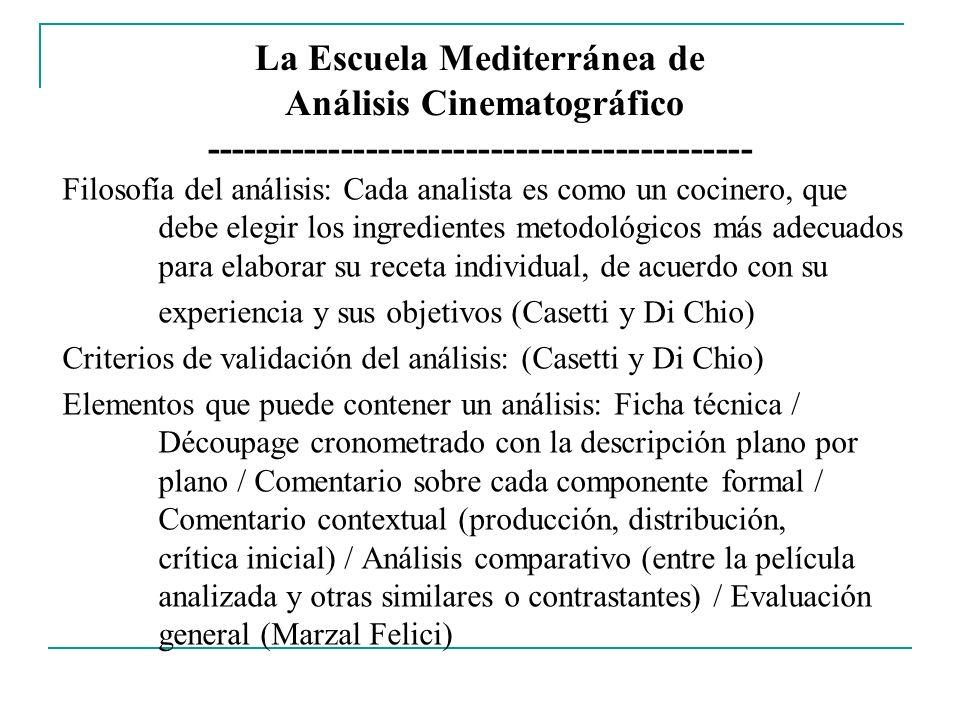 La Escuela Mediterránea de Análisis Cinematográfico --------------------------------------------