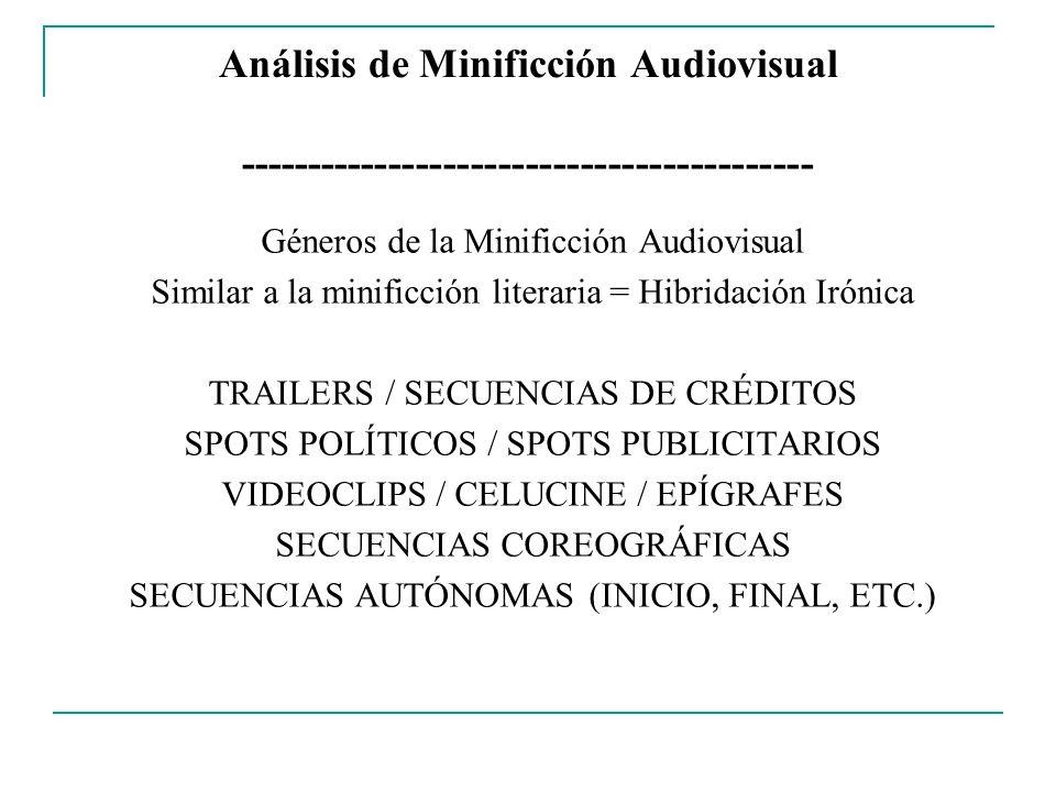 Análisis de Minificción Audiovisual ------------------------------------------