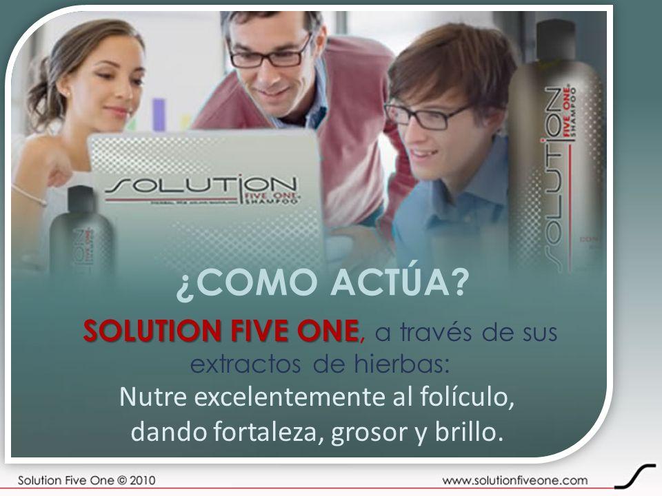 ¿COMO ACTÚA SOLUTION FIVE ONE, a través de sus