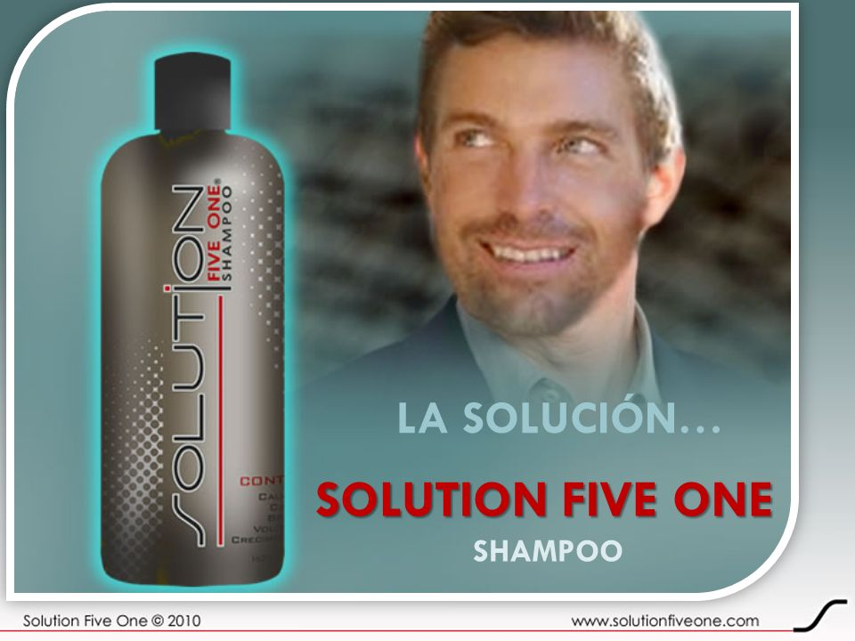 LA SOLUCIÓN… SOLUTION FIVE ONE SHAMPOO