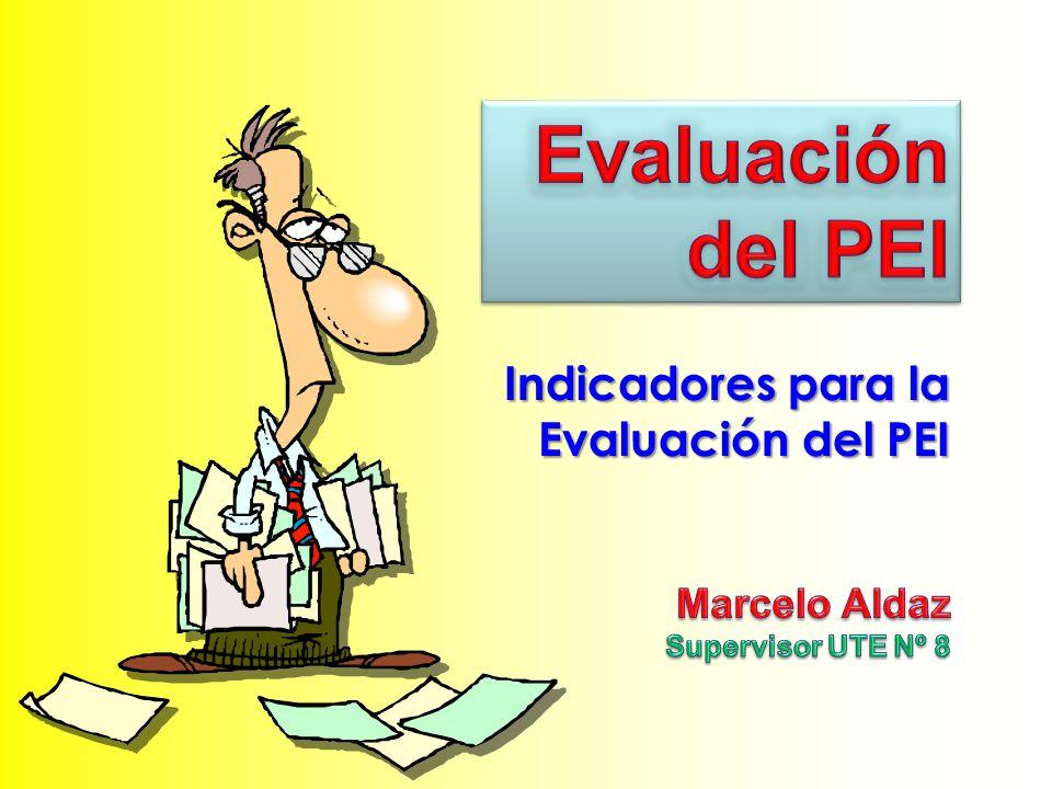 Indicadores para la Evaluación del PEI