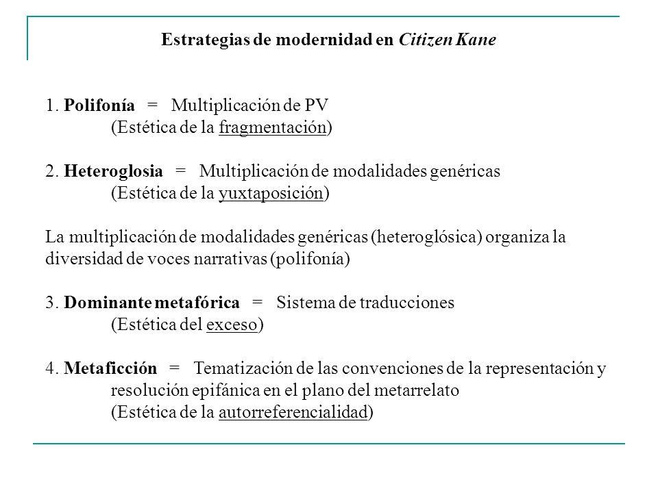 Estrategias de modernidad en Citizen Kane