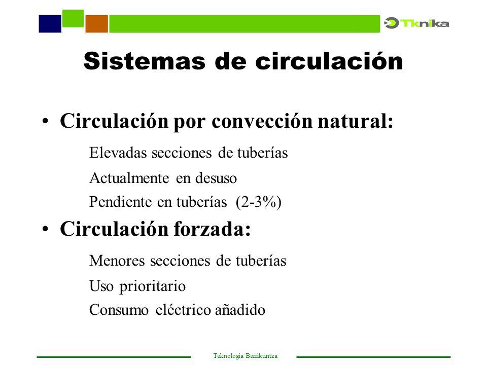 Sistemas de circulación