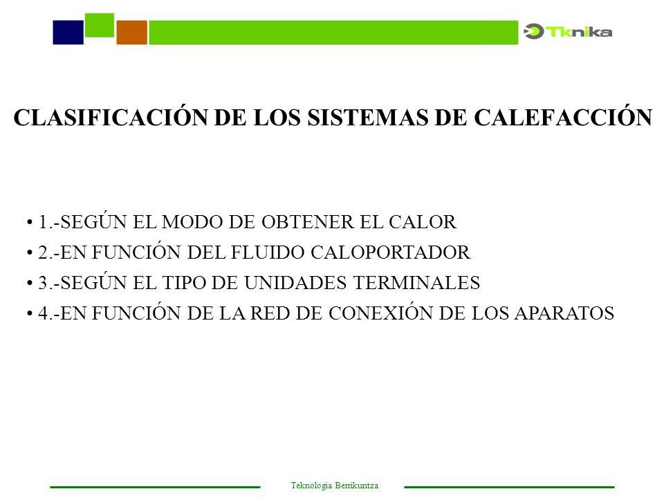 CLASIFICACIÓN DE LOS SISTEMAS DE CALEFACCIÓN