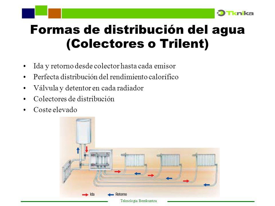 Formas de distribución del agua (Colectores o Trilent)