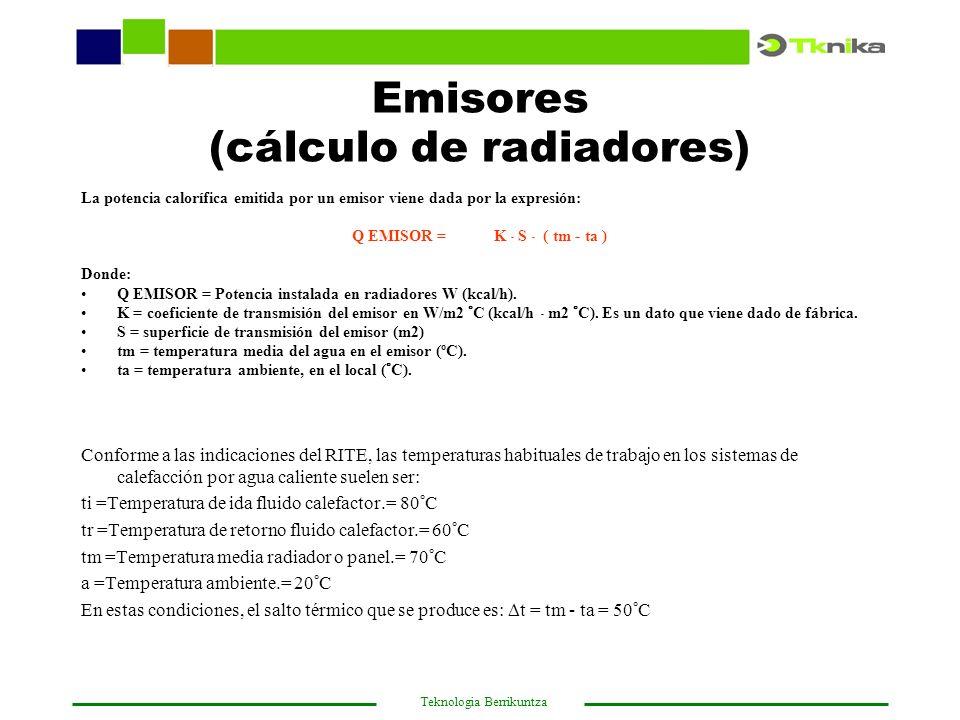 Emisores (cálculo de radiadores)