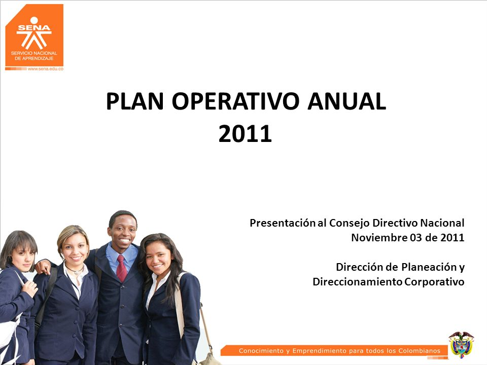 PLAN OPERATIVO ANUAL 2011 Presentación al Consejo Directivo Nacional