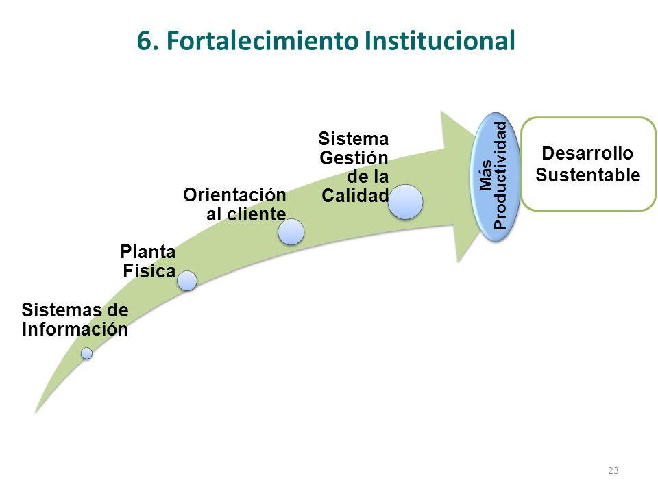 6. Fortalecimiento Institucional