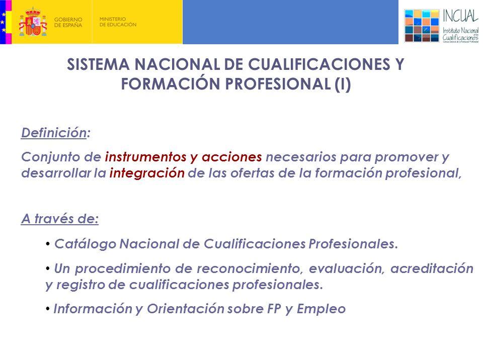 SISTEMA NACIONAL DE CUALIFICACIONES Y FORMACIÓN PROFESIONAL (I)