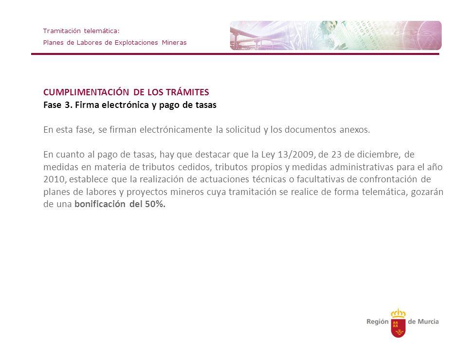 CUMPLIMENTACIÓN DE LOS TRÁMITES