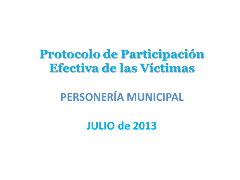 Protocolo de Participación Efectiva de las Víctimas