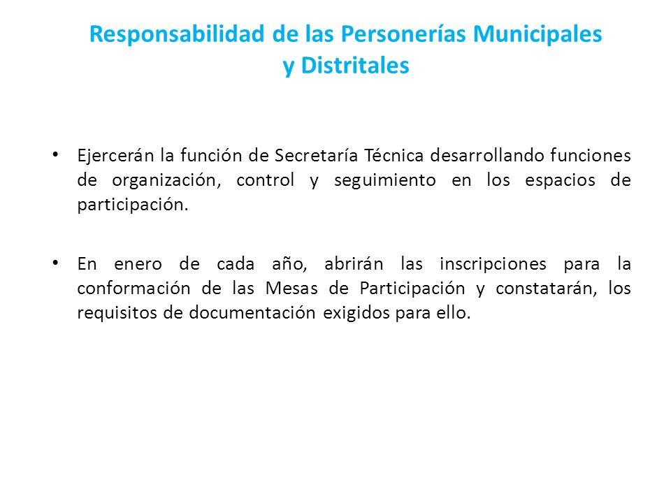 Responsabilidad de las Personerías Municipales y Distritales