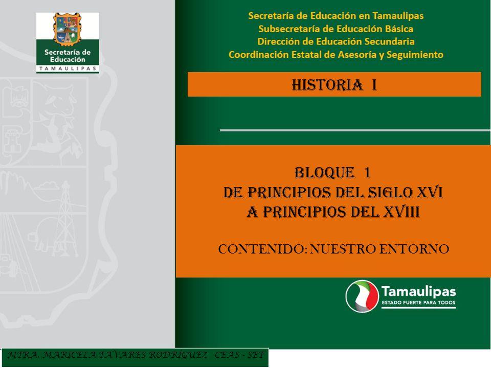 DE PRINCIPIOS DEL SIGLO XVI A PRINCIPIOS DEL XVIII