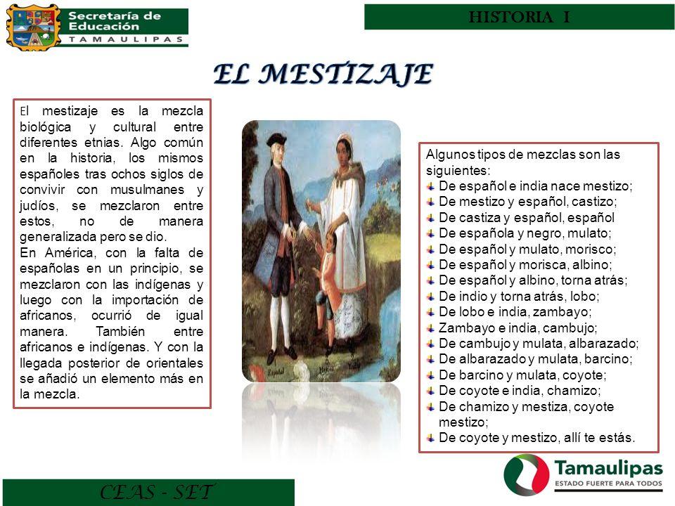 EL MESTIZAJE CEAS - SET HISTORIA I