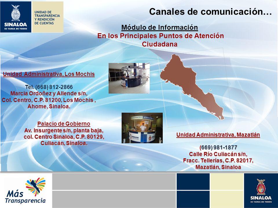 Canales de comunicación…