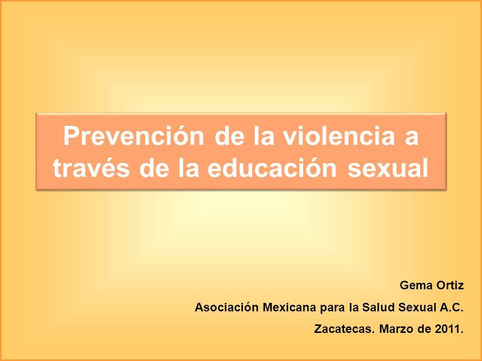 Prevención de la violencia a través de la educación sexual