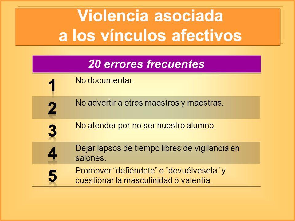 Violencia asociada a los vínculos afectivos
