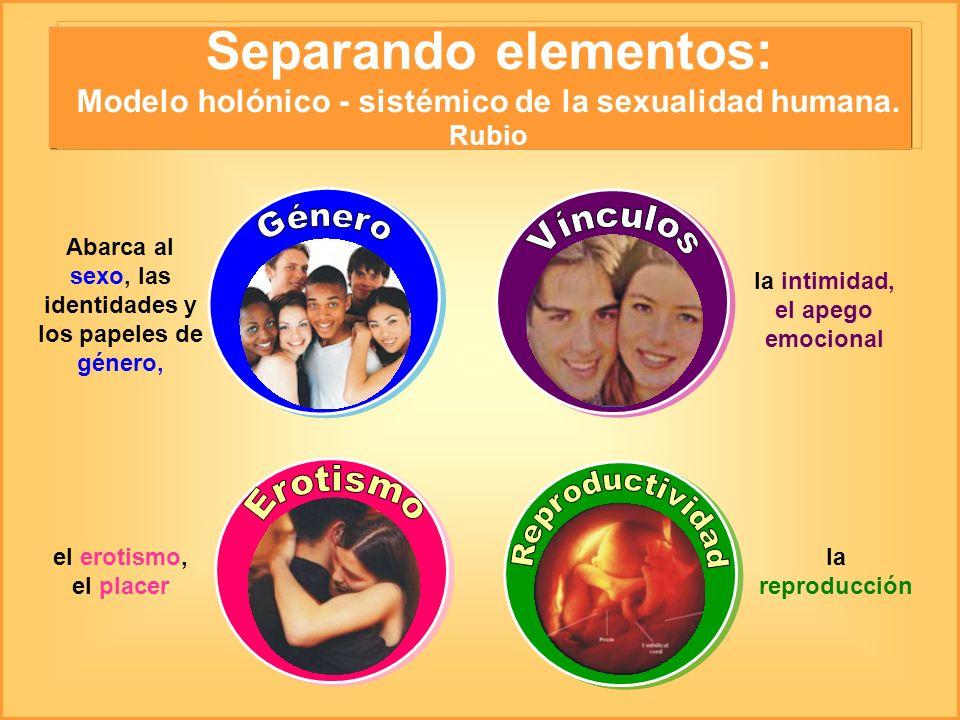 Separando elementos: Modelo holónico - sistémico de la sexualidad humana. Rubio